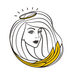 angel girl vector image