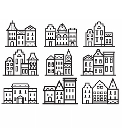 Europe Streets Icons vector image