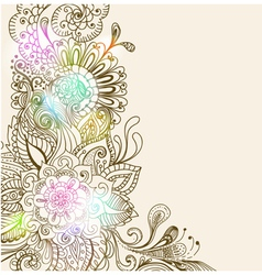 floral color ornament card vector image vector image
