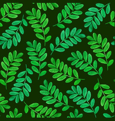 floral seamless pattern with green leaves vector image