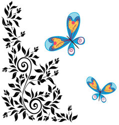 Flourishes in black 8 vector image vector image