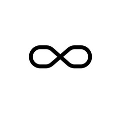 infinite sign icon vector image vector image
