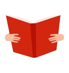 Open book with hands vector image