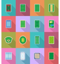 sport flat icons 58 vector image