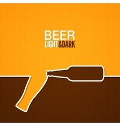 beer glass and bottle line design background vector image