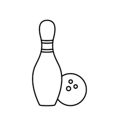 Bowling line icon vector image vector image