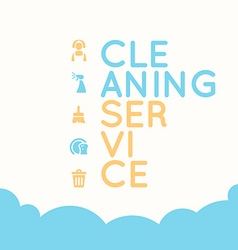 Cleaning service elements vector image vector image