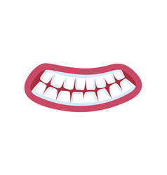 Fright comic mouth expression vector