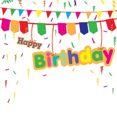 Happy birthday party with colorful gift isolated vector image vector image