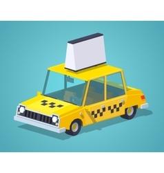 Taxi old sedan vector image vector image