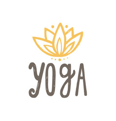 yoga and lotus vector image