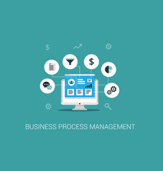 business process management system vector image