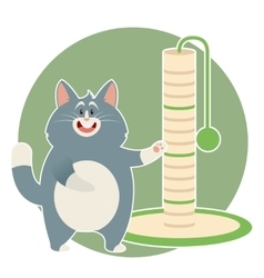 Cat and its Scratching Posts vector image