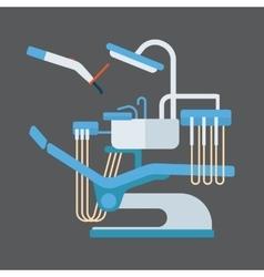 Dentist chair stomatology equipment vector image vector image