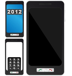 fictitious mobile phone vector image vector image
