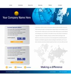 global business background vector image