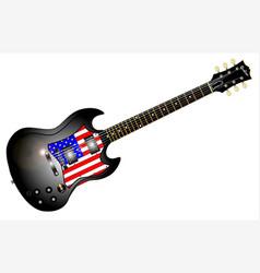 patriotic guitar vector image vector image
