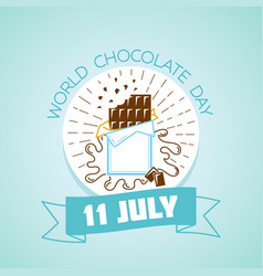 11 july world chocolate day vector image vector image