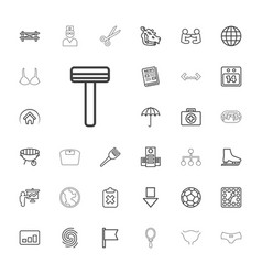 33 flat icons vector