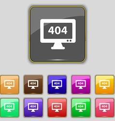 404 not found error icon sign Set with eleven vector image