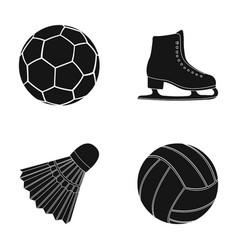 a soccer ball figure skating skates a vector image