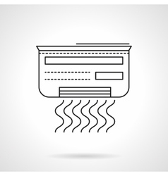 Air conditioner flat line icon vector image