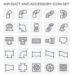 Air duct icon vector