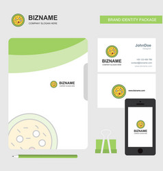 Bacteria on plate business logo file cover vector