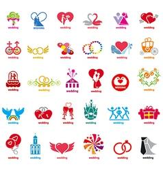 biggest collection logos wedding vector image
