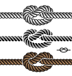 black rope knot symbols vector image
