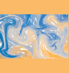 blue orange marble abstract background liquid vector image