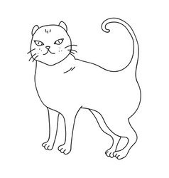 British shorthair icon in outline style isolated vector