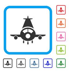 cargo plane framed icon vector image