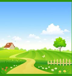 cartoon farm vector image