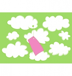 cartoon label vector image