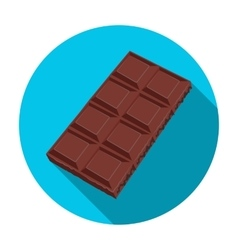 Chocolate icon in flat style isolated on white vector image