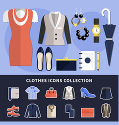 clothes icon collection vector image