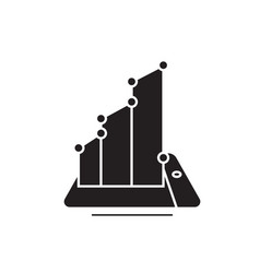 computer diagram black concept icon vector image