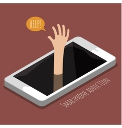Concept smartphone addiction vector
