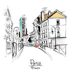 Cozy paris street france vector
