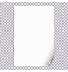 Curled Paper Corner A4 with transparent background vector