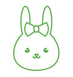 Cute and tender female rabbit kawaii style vector