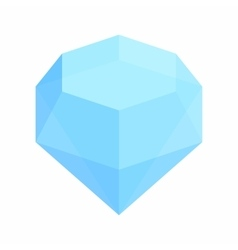 Diamond isometric 3d icon vector image