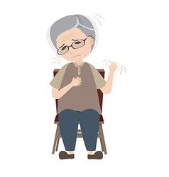 Dyskinesia in Parkinsons disease vector image