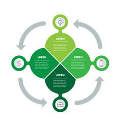 Eco business presentation concept with 4 options vector