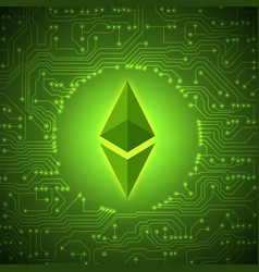 Ethereum crypto currency sign vector