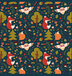 forest seamless pattern background vector image