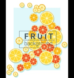 Fruit background with oranges vector image