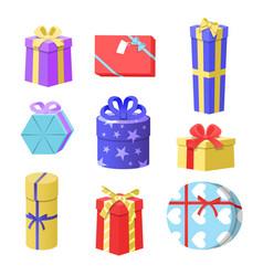 gift boxes christmas gift vector image