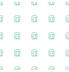 Hairstyle icon pattern seamless white background vector